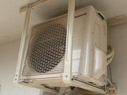 エアコン室外機の設置:天吊り