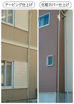 エアコン室外機の設置:2階用で室外機は地面設置