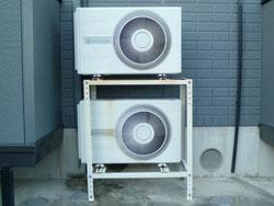 エアコン室外機の設置:二段置き設置
