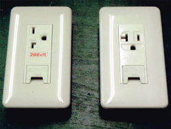 エアコン用コンセント交換