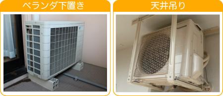 集合住宅のエアコン室外機の設置場所